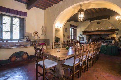 siena-toscana-villa-corsano-cena-pranzo-tavola