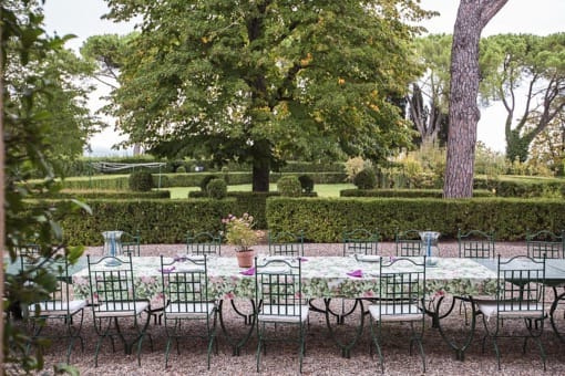 Villa-Corsano-Siena-Toscana-cerimonia-pranzo-giardino-tavola