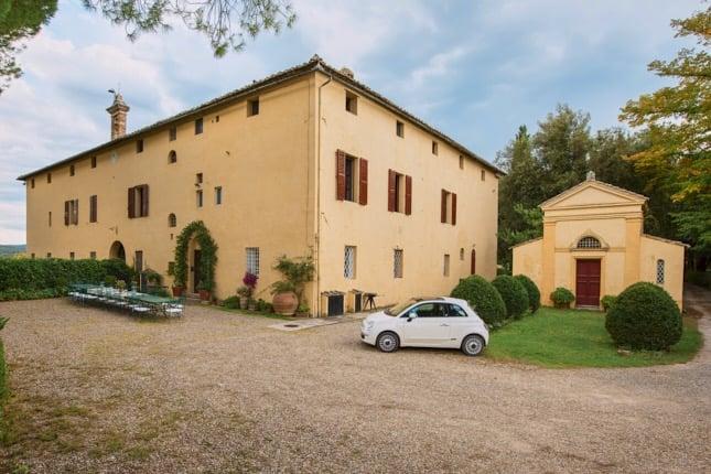 villa-corsano-toscana-giardino-fiat-500
